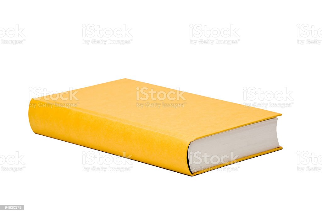 yellow book with blank cover royalty-free stock photo