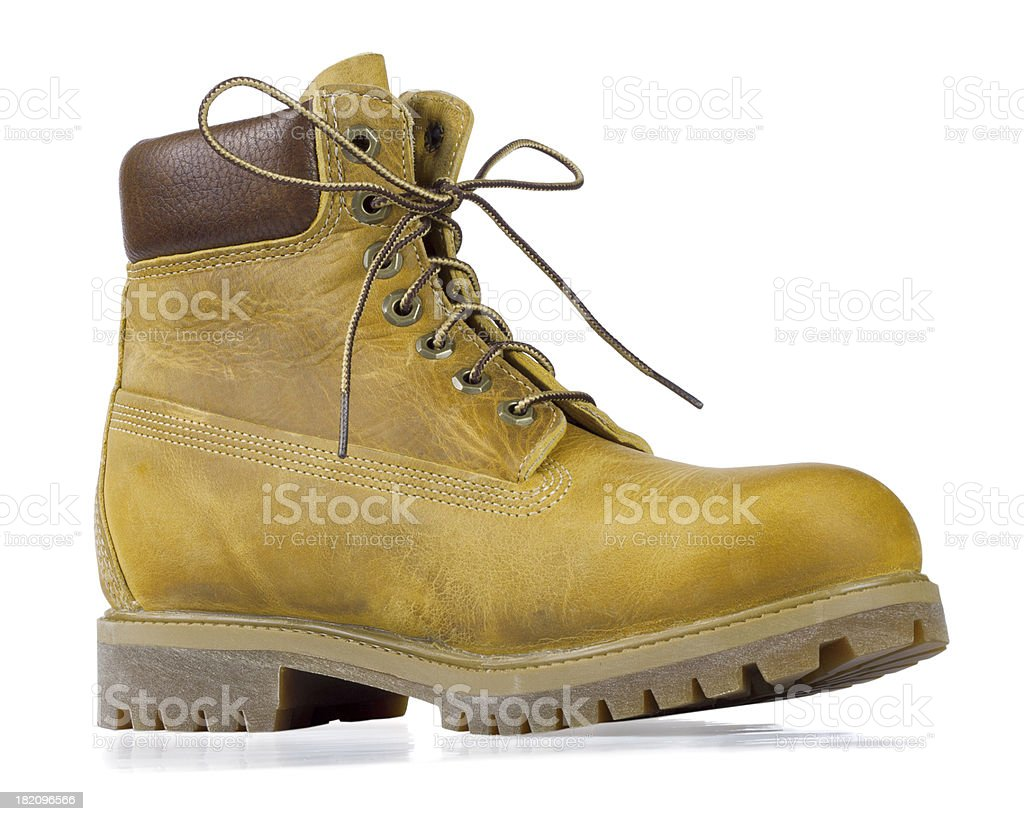 Yellow boot royalty-free stock photo