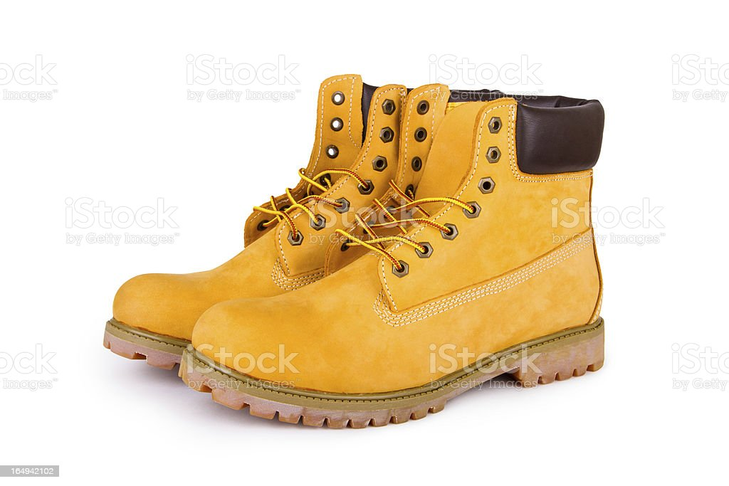 Yellow boots royalty-free stock photo