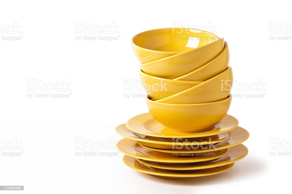 Yellow Bowls royalty-free stock photo