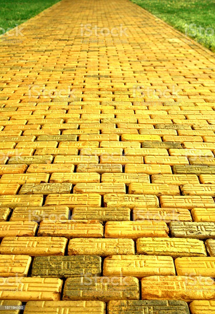 Yellow Brick Road stock photo