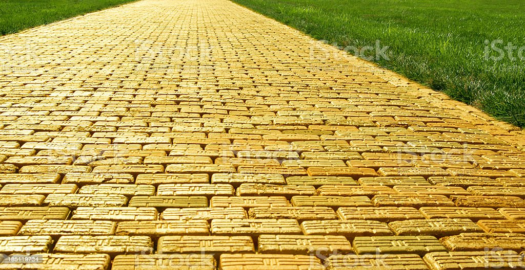 Yellow Brick Road - Wide stock photo