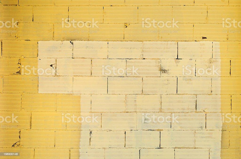 Amarillo pared de ladrillos - foto de stock