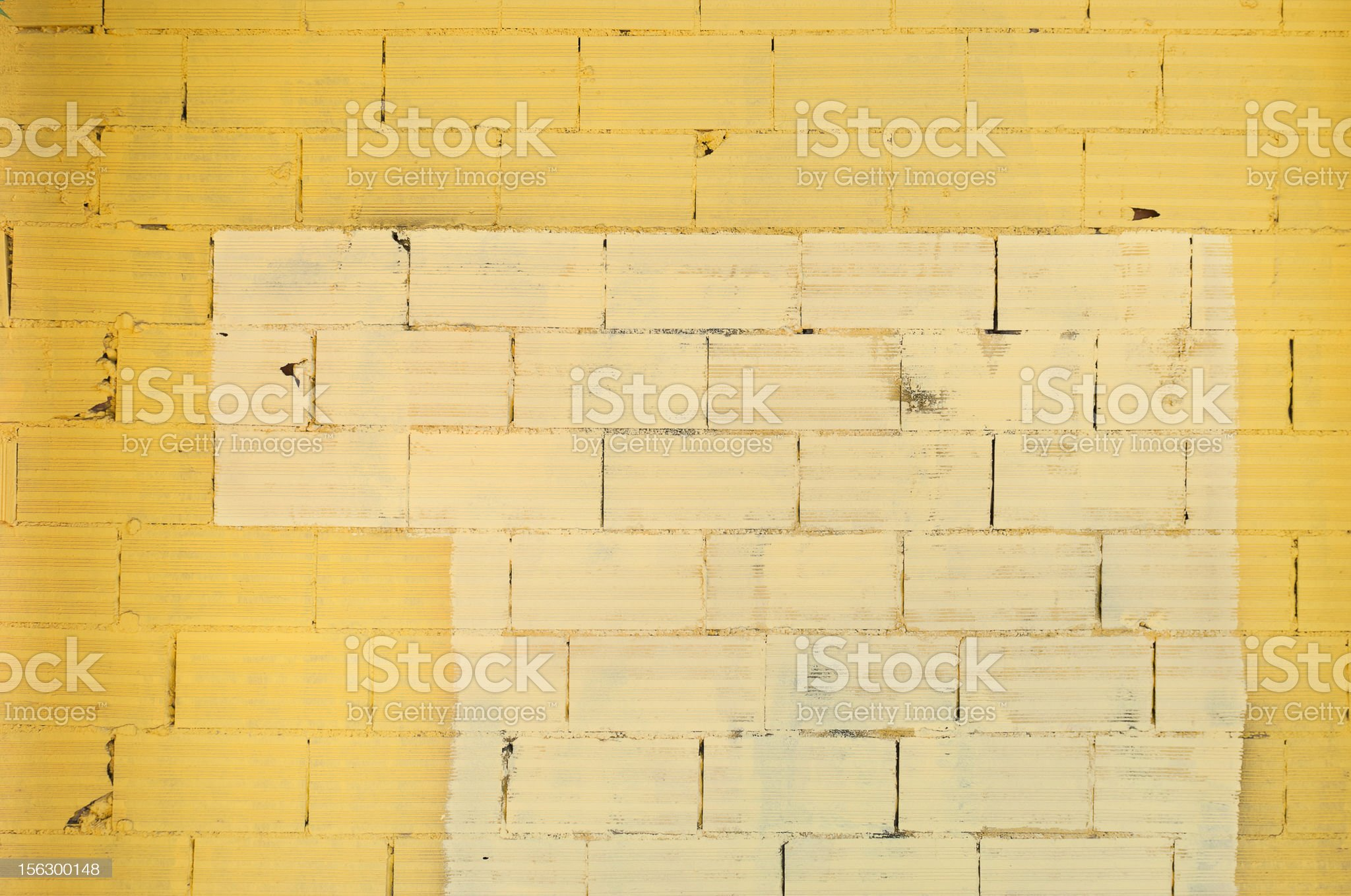 Yellow Brick Wall royalty-free stock photo