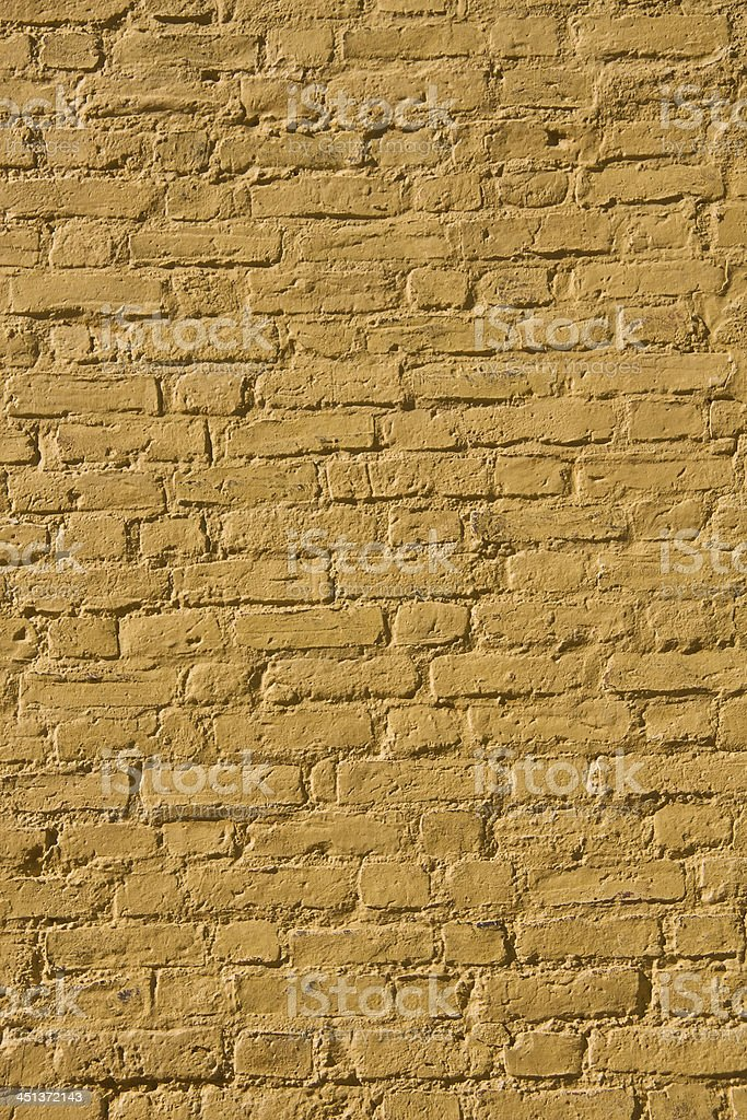 Yellow brick wall texture royalty-free stock photo