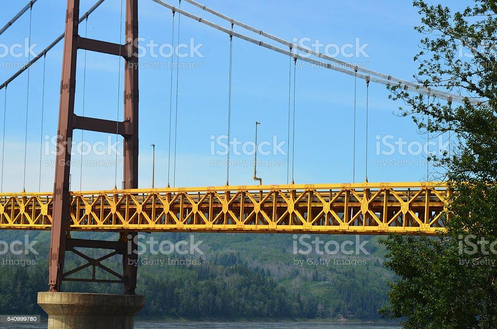 Yellow Bridge stock photo