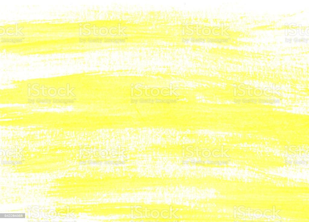 Yellow brush strokes stock photo