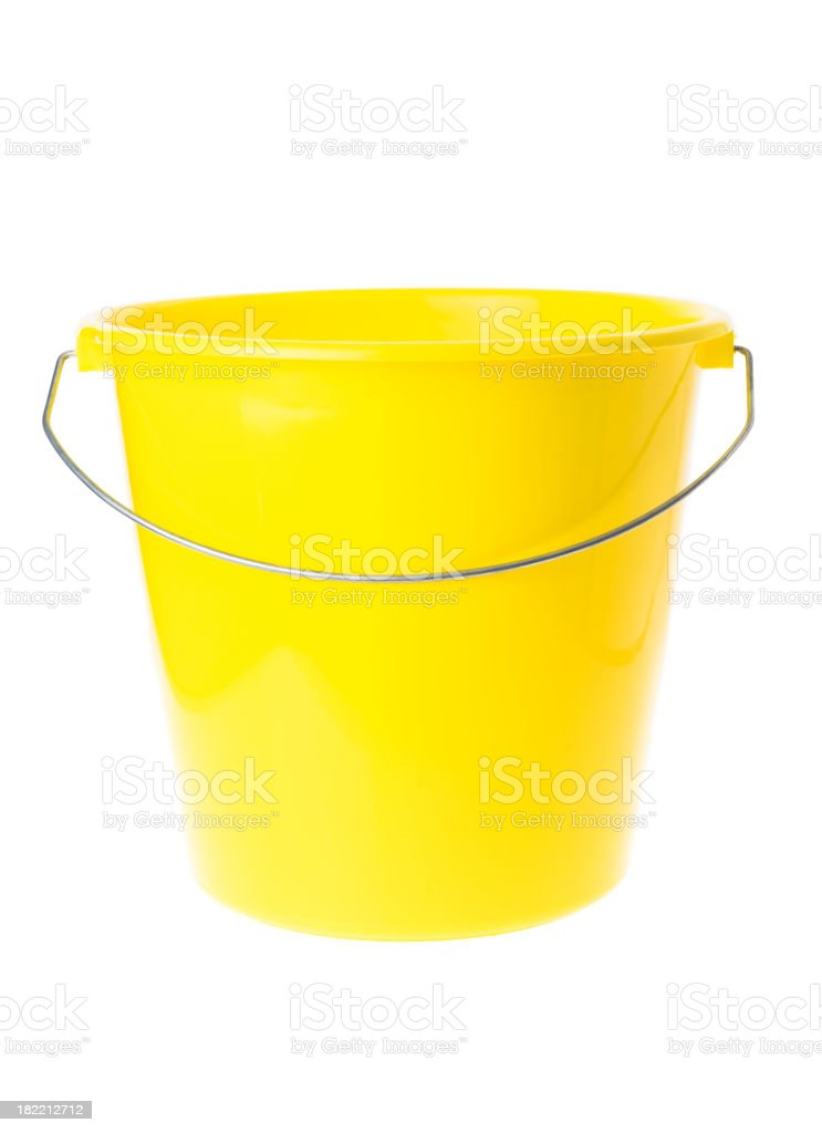 Yellow Bucket royalty-free stock photo