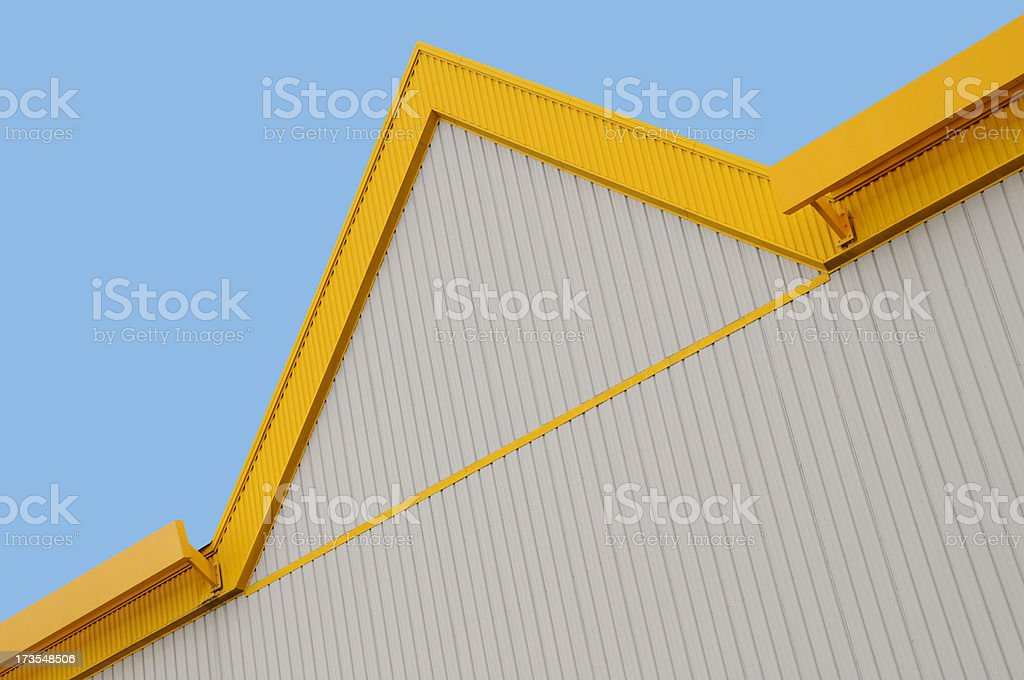 Yellow Building Edge Detail royalty-free stock photo