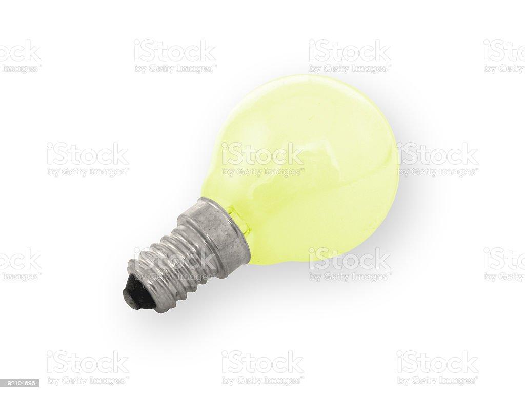 yellow bulb stock photo