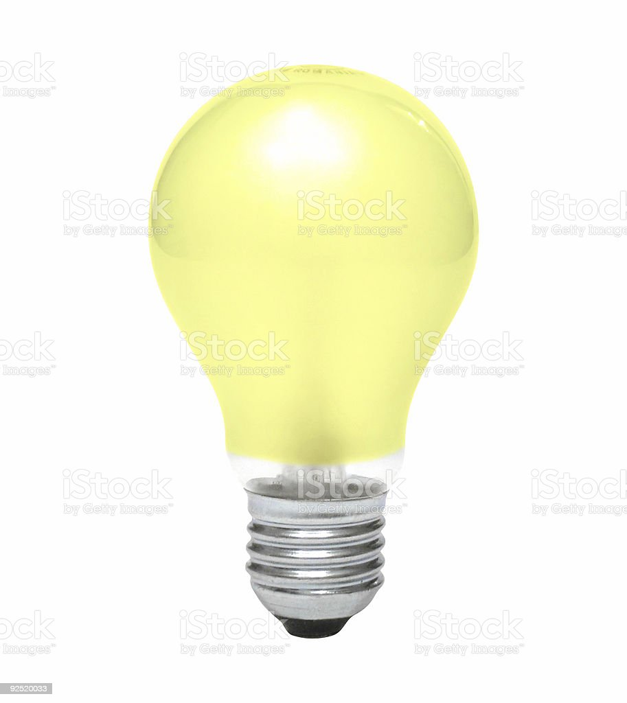 Yellow bulb royalty-free stock photo