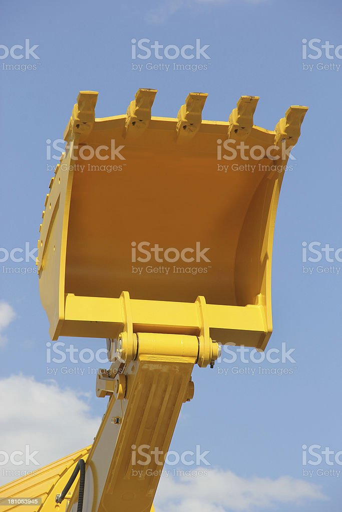 Yellow Buldozer blade stock photo