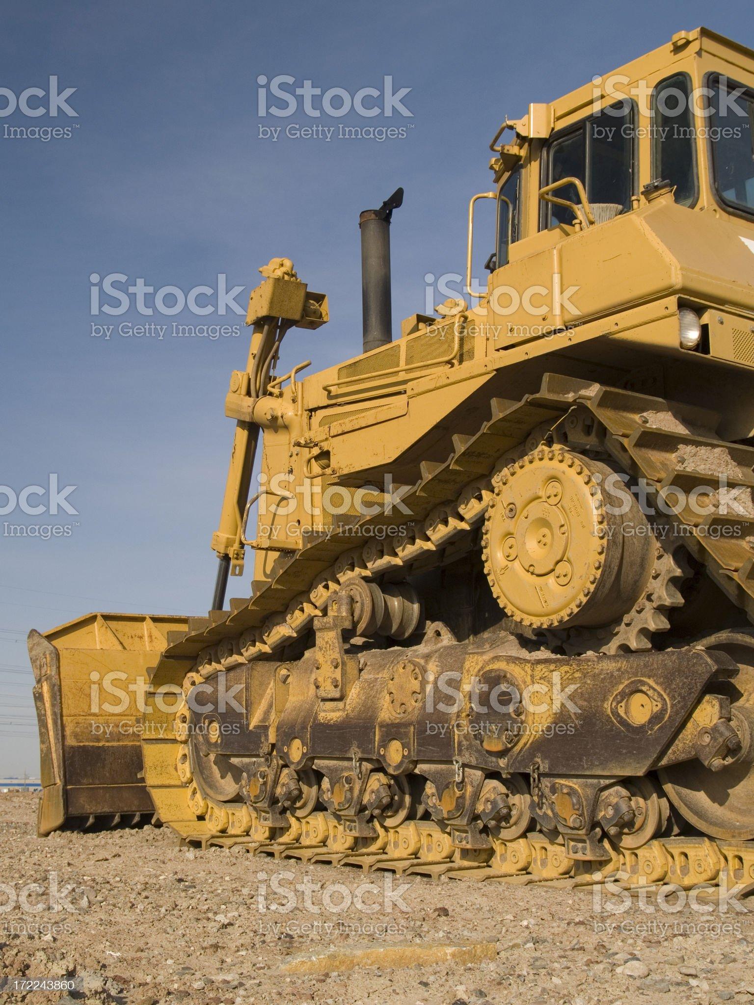 Yellow Bulldozer royalty-free stock photo
