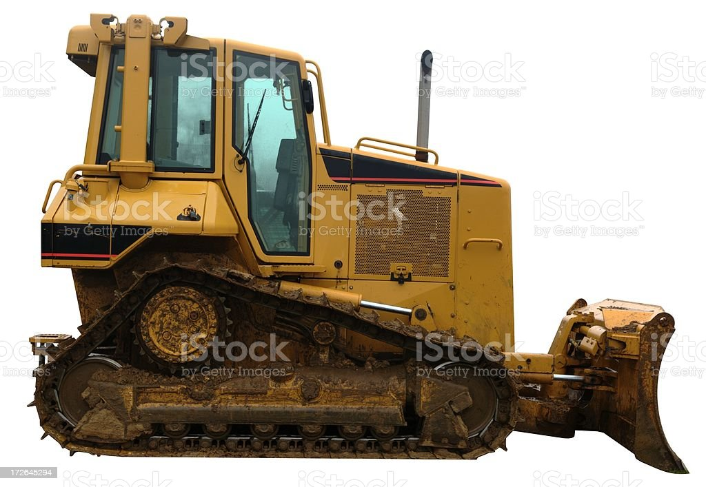 Yellow Bulldozer royalty-free stock photo