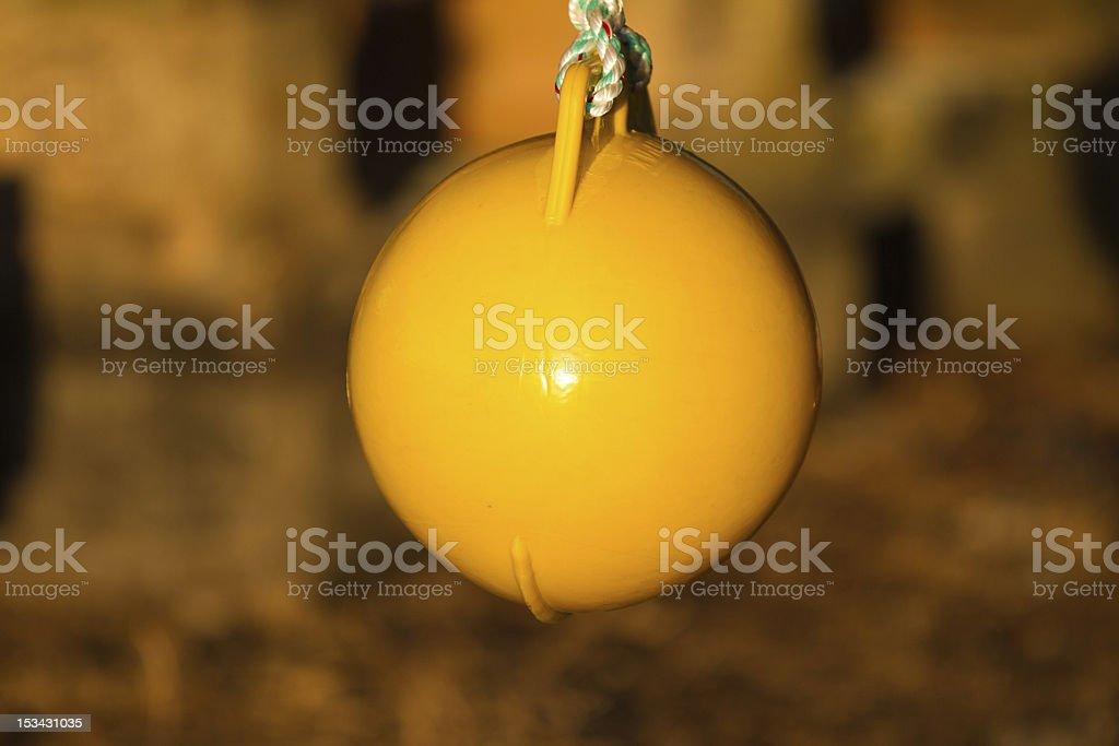 Yellow Buoy stock photo
