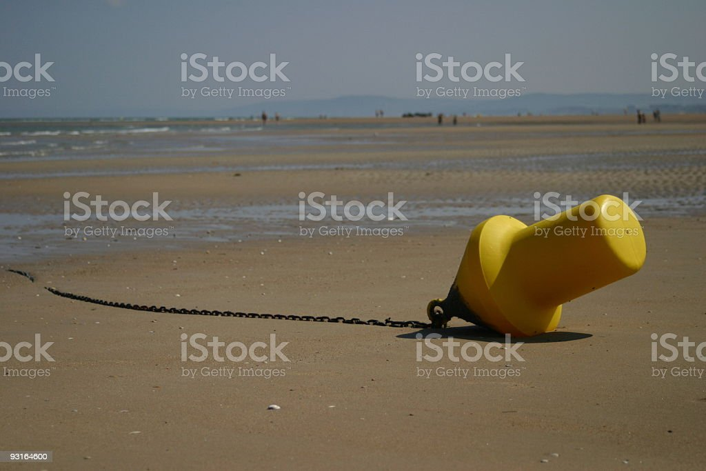 yellow buoy stock photo