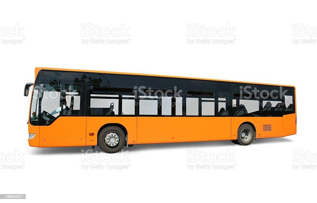 Yellow bus royalty-free stock photo
