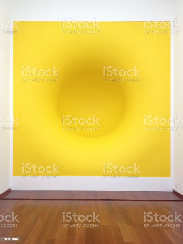 Yellow by Anish Kapoor stock photo