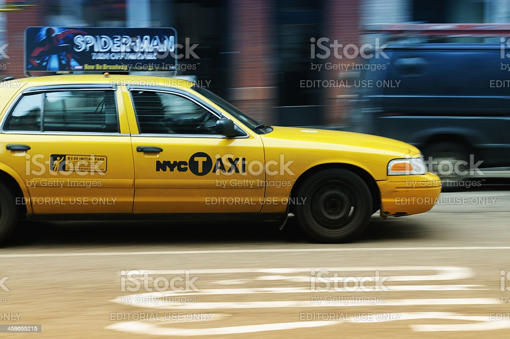 Yellow Cab in NYC royalty-free stock photo