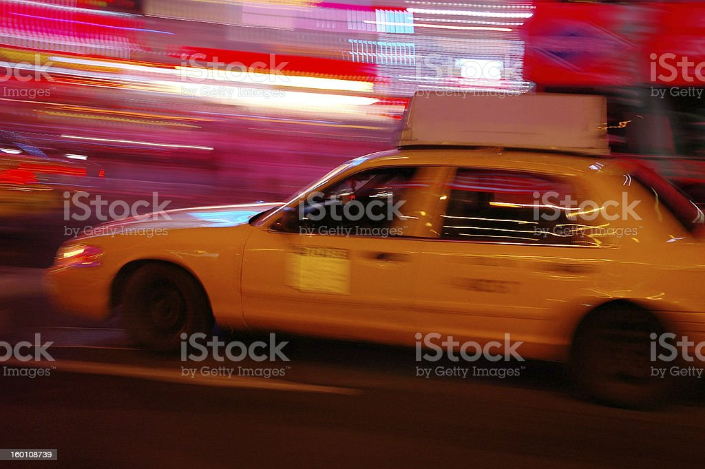 yellow cab royalty-free stock photo