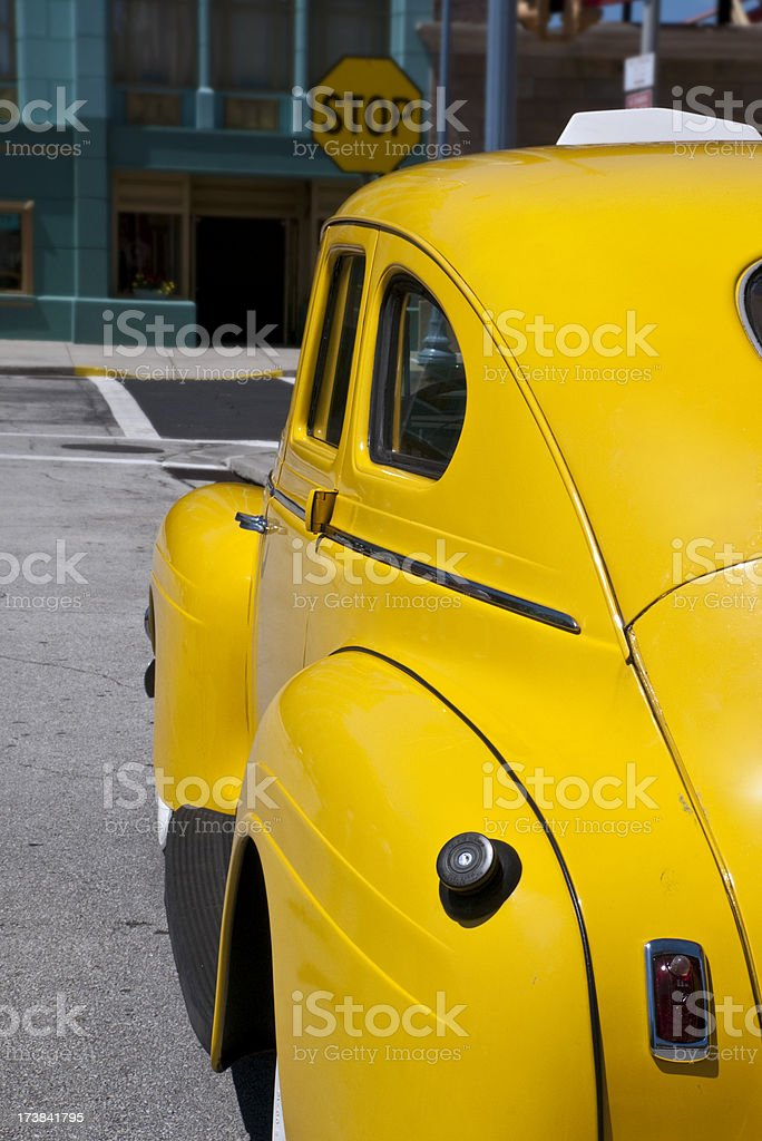 Yellow Cab stock photo