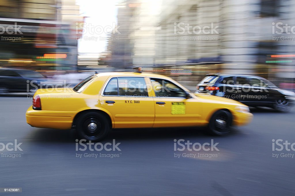 Yellow Cab... royalty-free stock photo