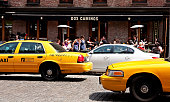 Yellow cabs in Meat Packing District, New York City