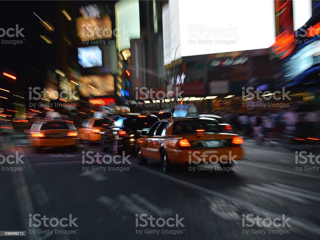 Yellow Cabs stock photo