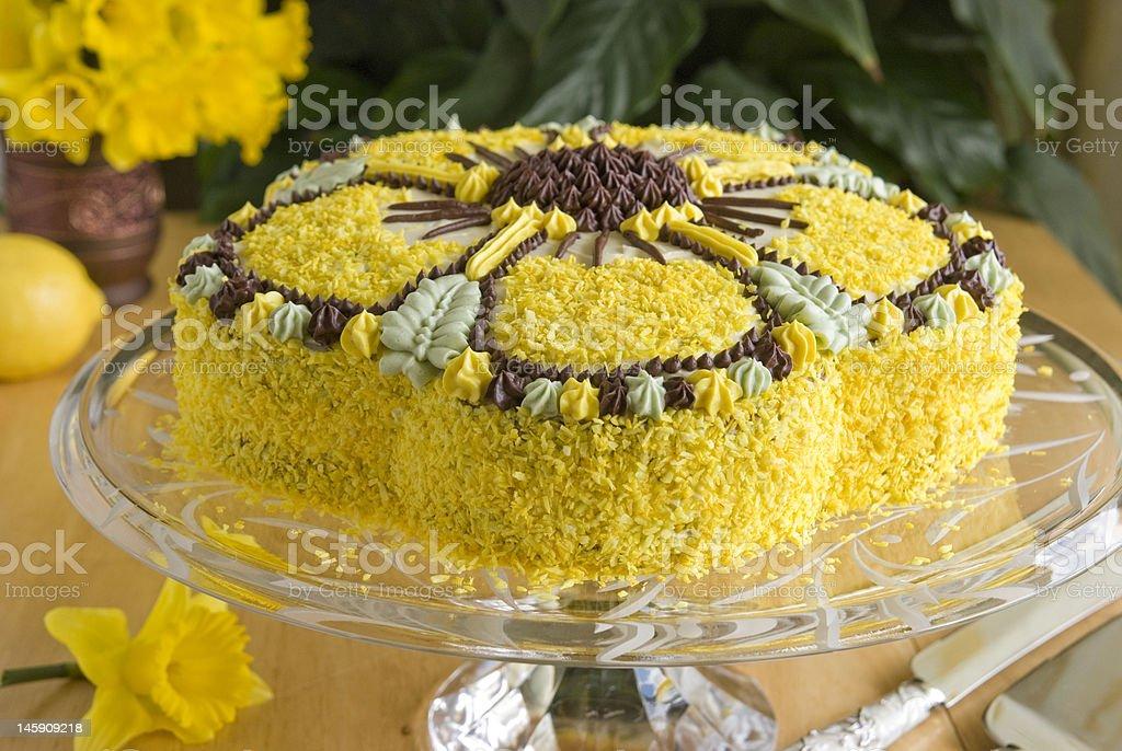 yellow cake stock photo