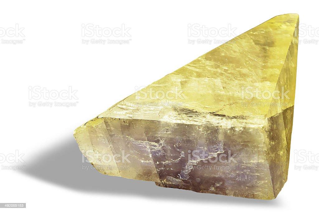 Yellow Calcite stock photo