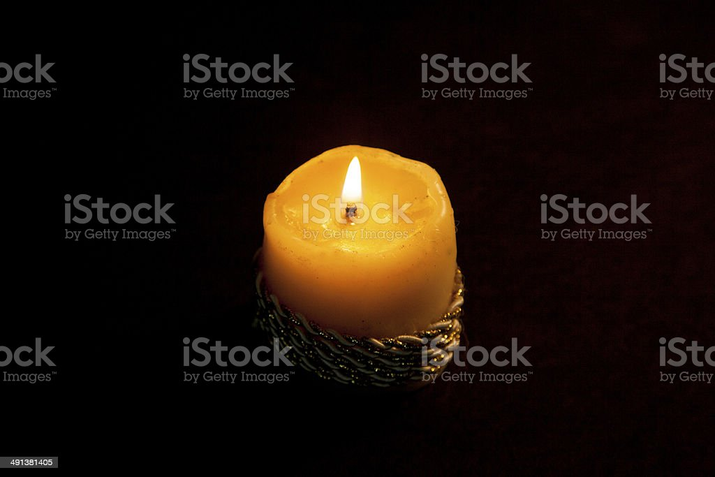 Yellow Candle royalty-free stock photo