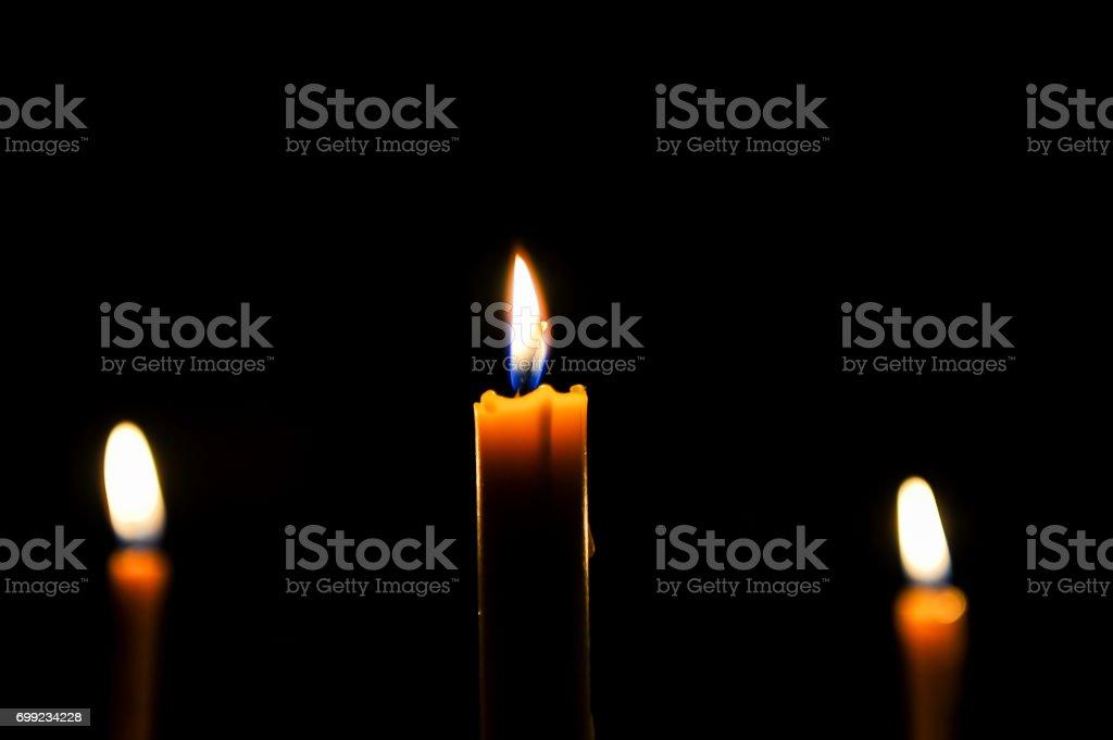 Yellow candle stock photo