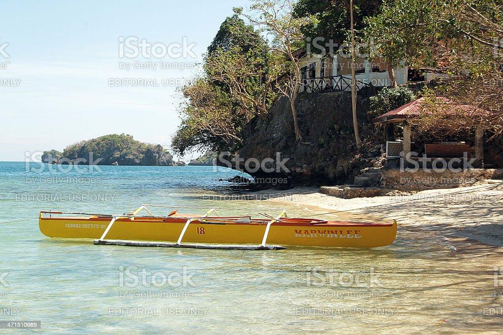 Giallo canoa, Filippine foto stock royalty-free