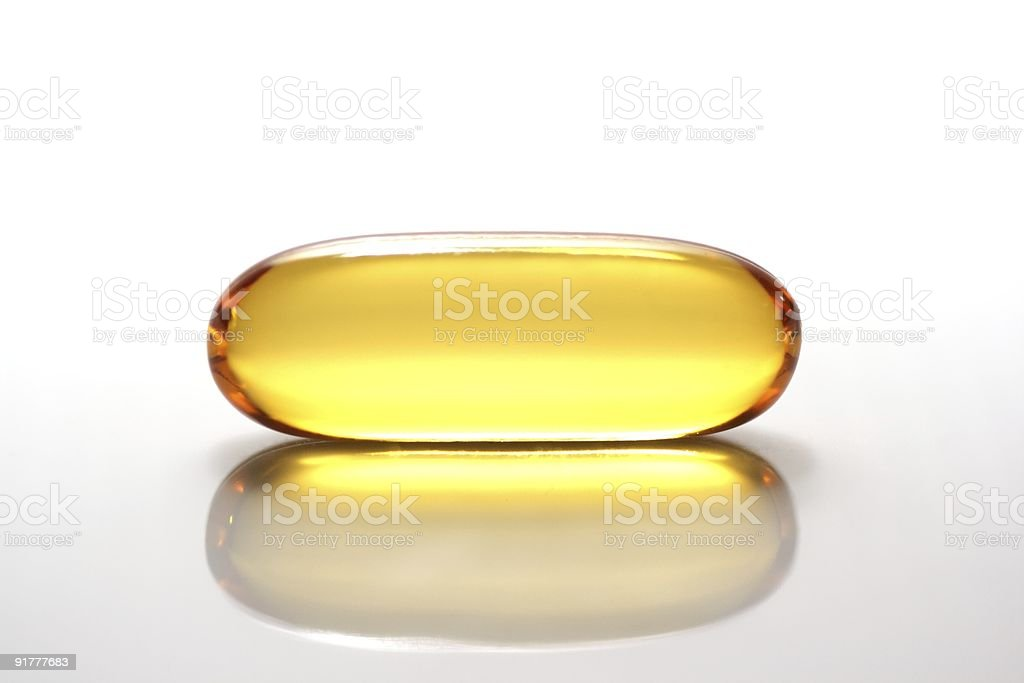 Yellow capsule royalty-free stock photo