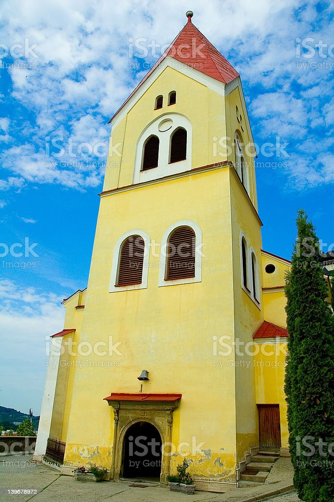 yellow cathedral royalty-free stock photo