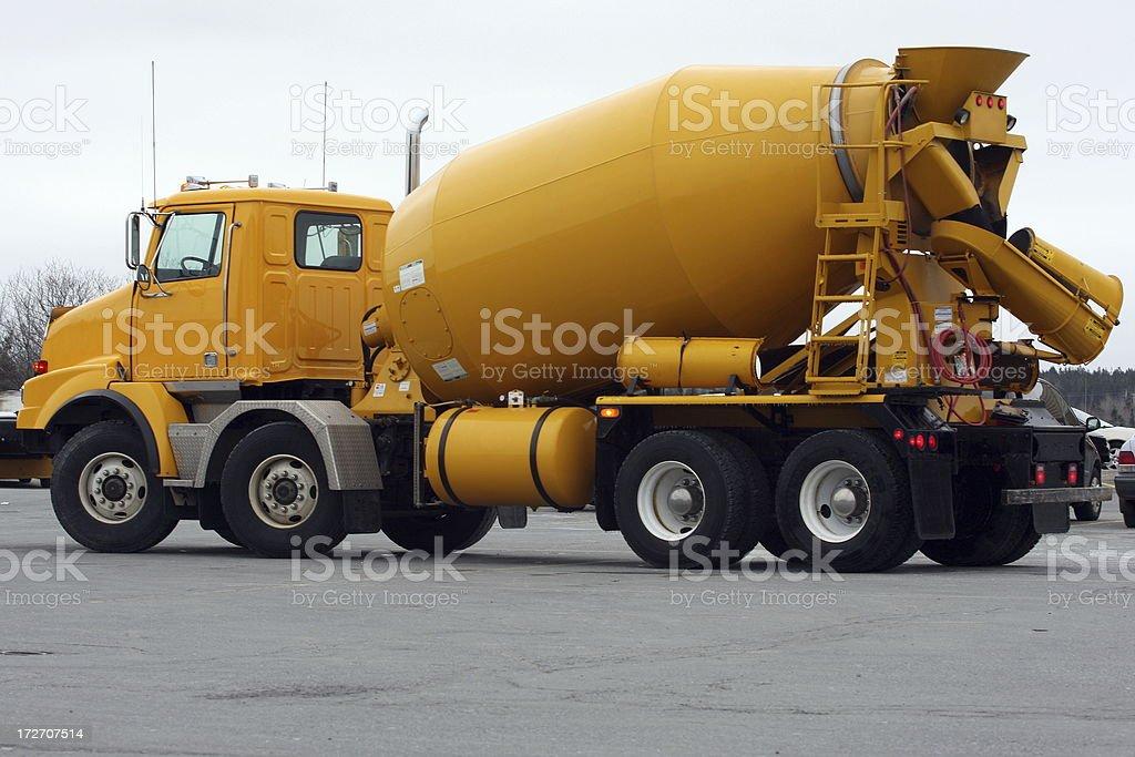 Yellow Cement Truck stock photo