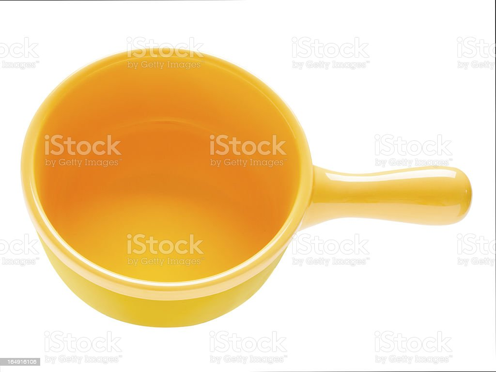 yellow ceramic clay pot royalty-free stock photo