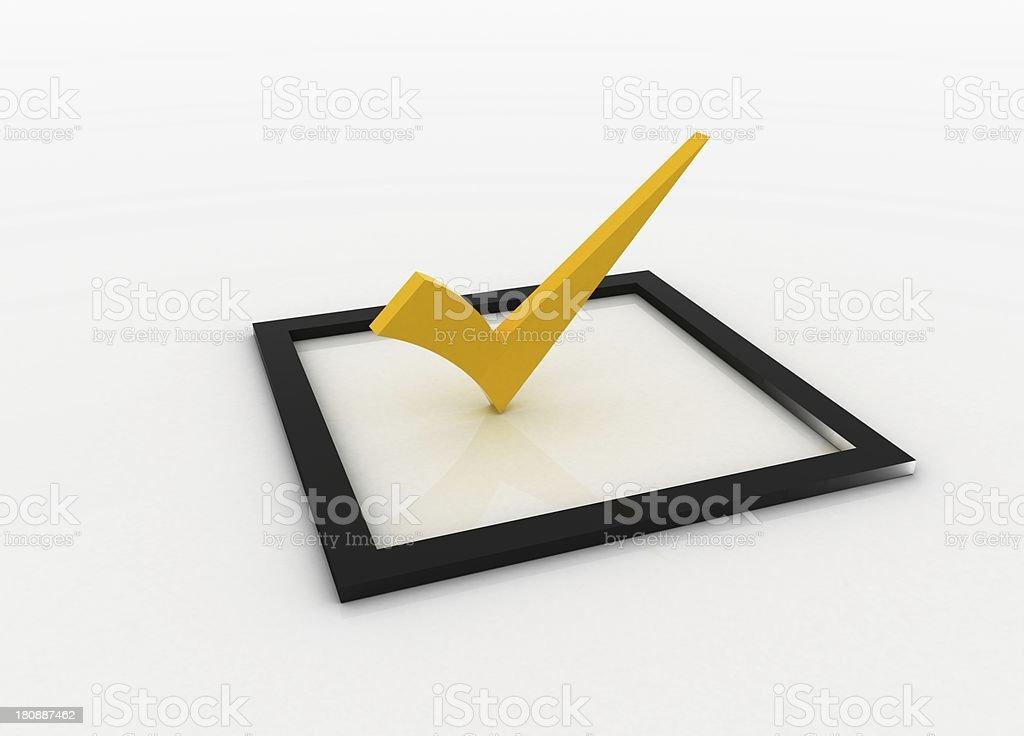 yellow checkmark royalty-free stock photo