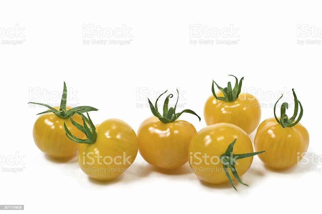 Yellow cherry tomatoes royalty-free stock photo