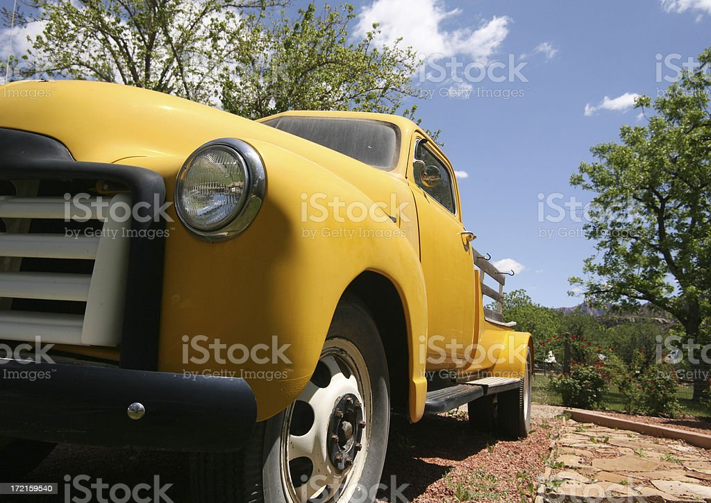 yellow chevy royalty-free stock photo