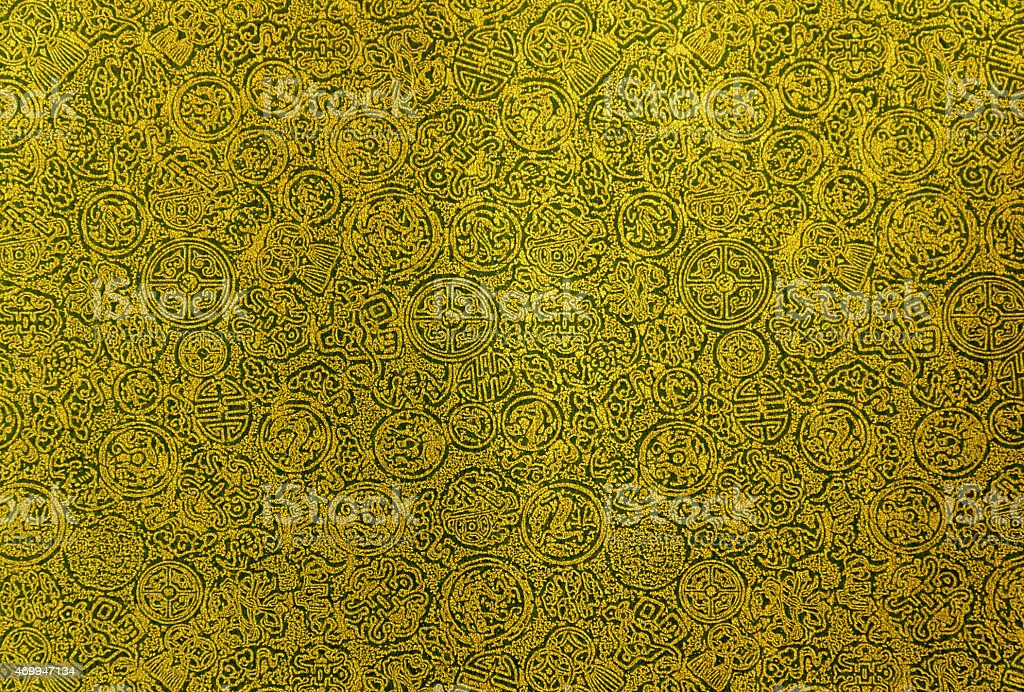 Yellow Chinese pattern background royalty-free stock photo