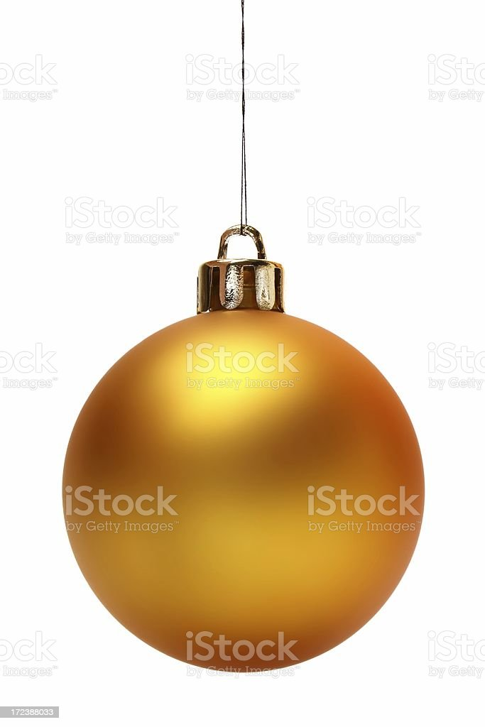 Yellow Christmas Ball (Isolated) stock photo