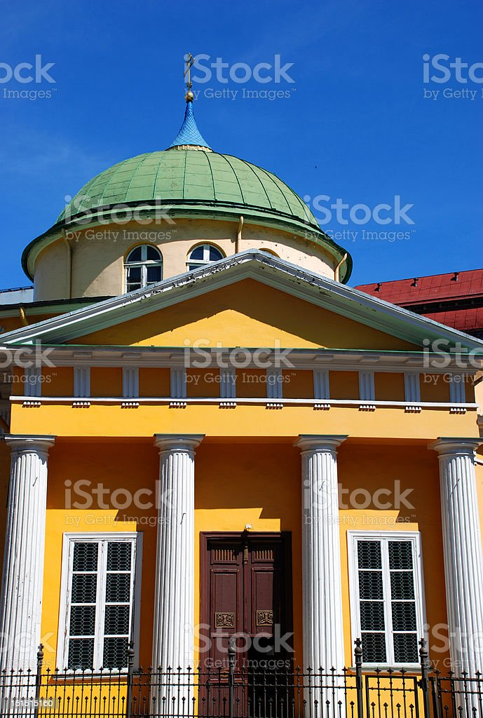 Yellow Church royalty-free stock photo