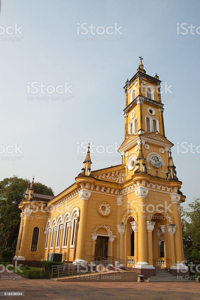 Yellow church royalty-free stock photo