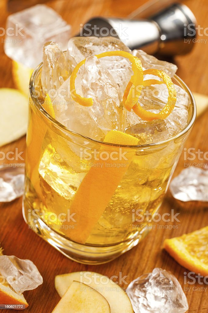 Yellow, clear drink royalty-free stock photo
