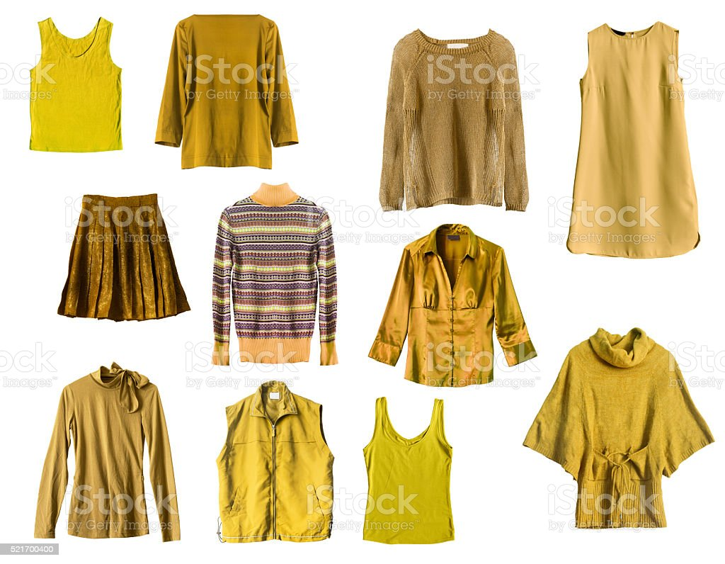 Yellow clothes stock photo