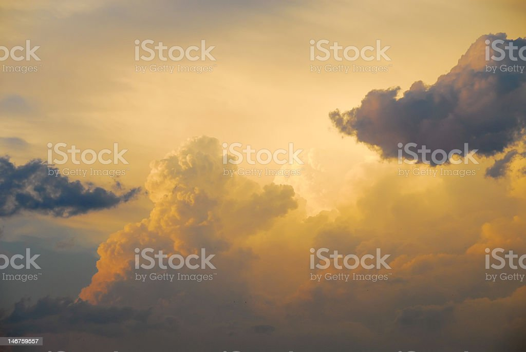 Yellow clouds stock photo