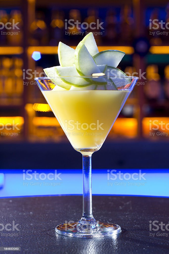 Yellow Cocktail royalty-free stock photo