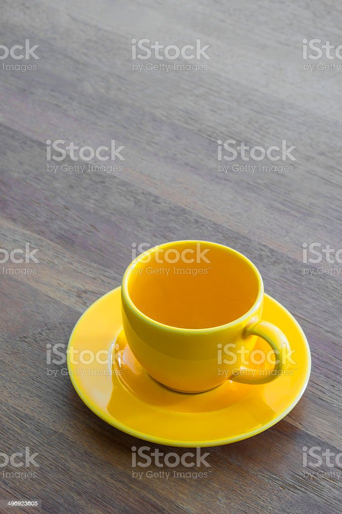 Yellow Coffee Cup royalty-free stock photo