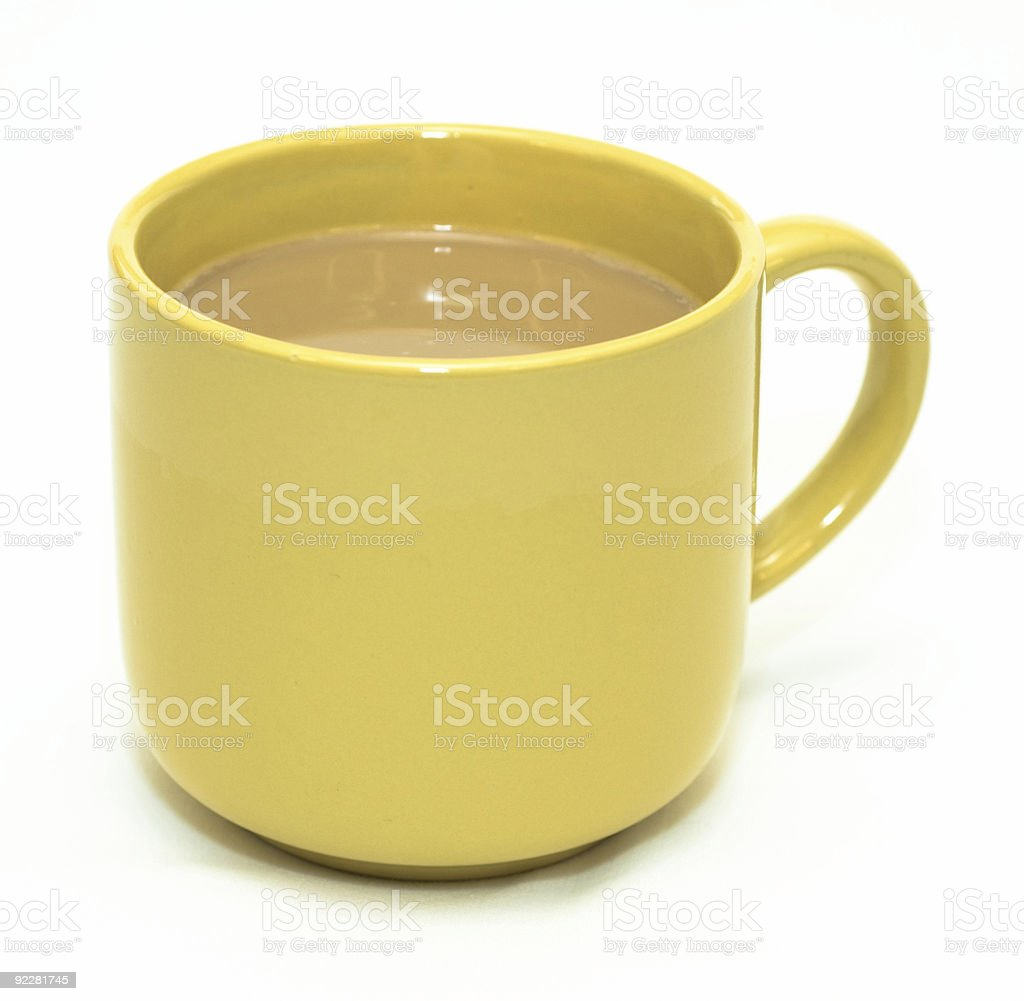 Yellow coffee cup. royalty-free stock photo